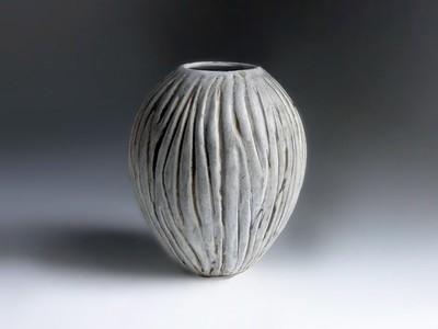 Vintage Caved Vase by Weston Neil Andersen