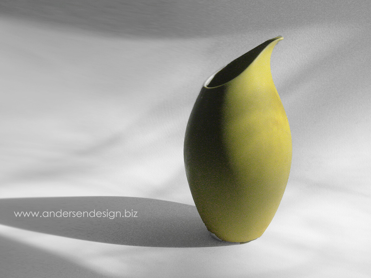 Rare Vintage Mid-century Yellow Ceramic Pitcher by Weston Neil Andersen