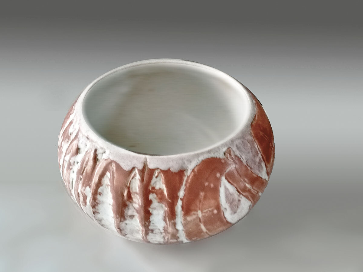 One of a Kind Carved Vintage Bowl