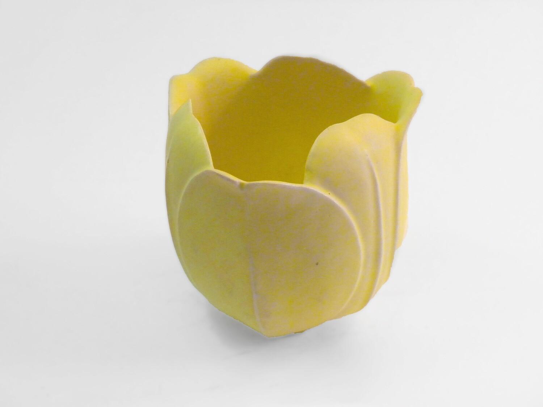 Tulip Vase in Rare Yellow Glaze