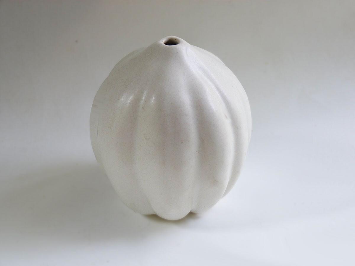Vintage Acorn Squash Vase in White