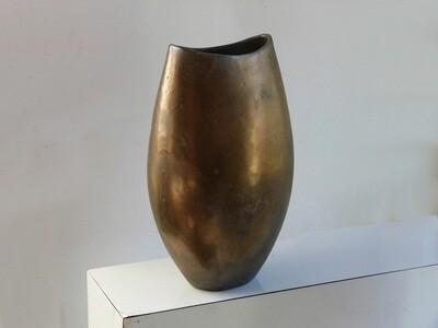 Cycladic Vase in Bronze Glaze circa decade of 2010