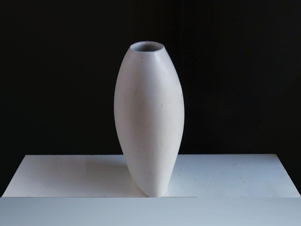Cycladic Vase Reversed, White
