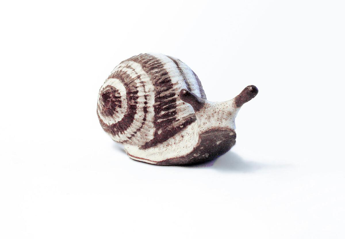 Snail. large  Vintage Prototype in Natural Brown Stripe