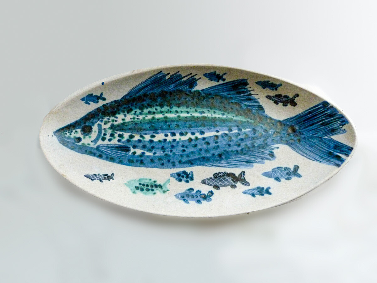 One of a Kind Vintage Family of Fish Platter by Brends