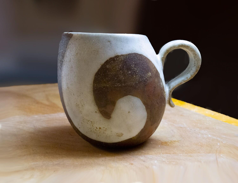 Prototype of Nautilus Shell Pattern on Leaning Mug