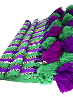 Large Rainbow Rebozo - Vintage Mayan Wrap