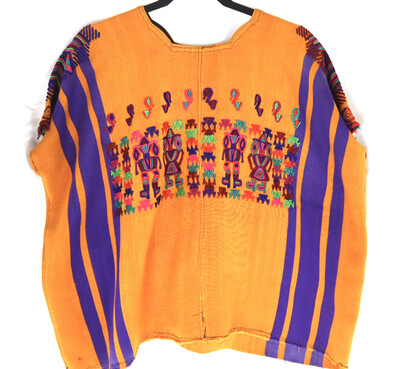 Huipil | Hand Woven Blouse | Vintage Top - Chajul (LARGE)