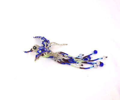 Handmade Guatemalan Beaded Hummingbird