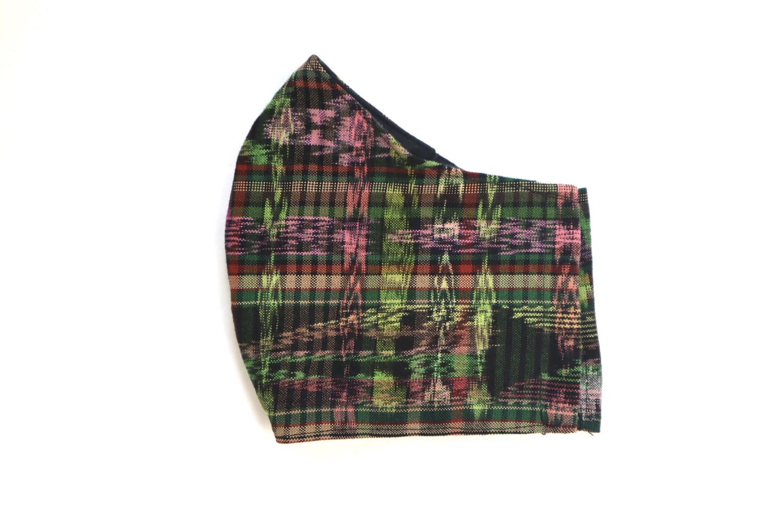 Reusable Fabric Mask - Ikat Green (LARGE)