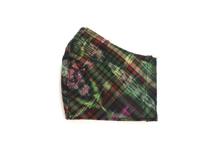 Reusable Fabric Mask - Ikat Green (YOUTH/SMALL)