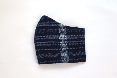 Reusable Fabric Mask- Ikat Indigo Blue (YOUTH/SMALL)