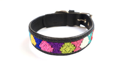 Mayan Leather Dog Collar - XX Small
