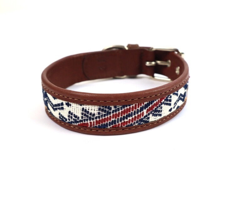 Mayan Leather Dog Collar - X Small