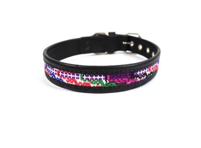 Mayan Leather Dog Collar - Small