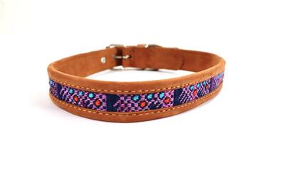 Mayan Leather Dog Collar - MEDIUM