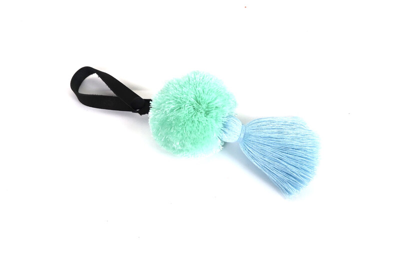 Pom Pom Leather Tassel - XL