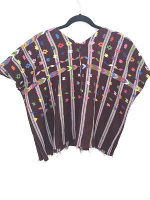 Huipil | Hand Woven Blouse | Vintage Top - PATZICÍA (S/MEDIUM)
