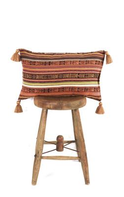Vintage Guatemalan Corte Pillow - Rectangular