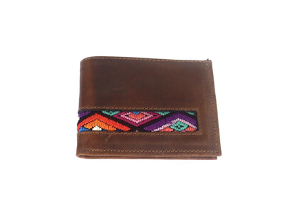 Mayan Leather Men's Wallet -  Chocolate Brown