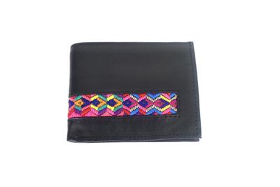 Mayan Leather Men's Wallet -  Black