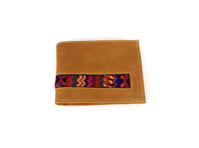 Mayan Leather Men's Wallet -  Caramel