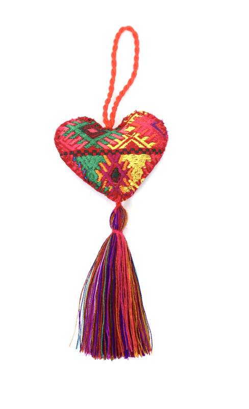 Corazon Huipil Ornament - No. 1