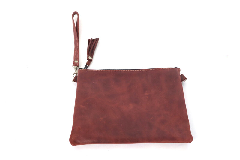 Leather ONLY Cross Body Clutch - No. 211