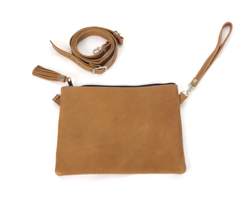 Leather ONLY Cross Body Clutch - No. 212