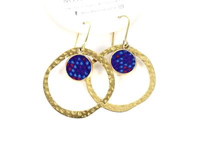 Ring Huipilito Brass Earrings