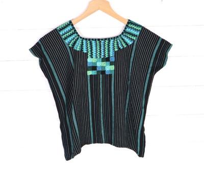 Huipil | Hand Woven Blouse | Vintage Top - San Juan La Laguna (SMALL)