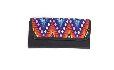 Mayan Leather Wallet - Black