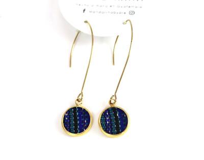 Huipilito Brass Earrings - Half Moon
