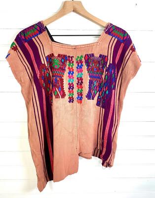 Huipil | Hand Woven Blouse | Vintage Top - Chajul (MEDIUM)