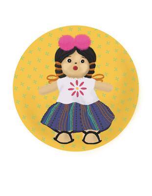 Guatemalan Doll - Waterproof Sticker