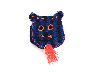 Wool Coin Pouch - Cat