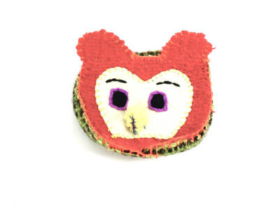 Wool Coin Pouch - Owl