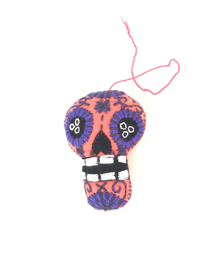 Day of the Dead Embroidered Tassel Pom Pom - No. 4