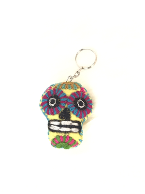 Day of the Dead Embroidered Key Chain - No. 1