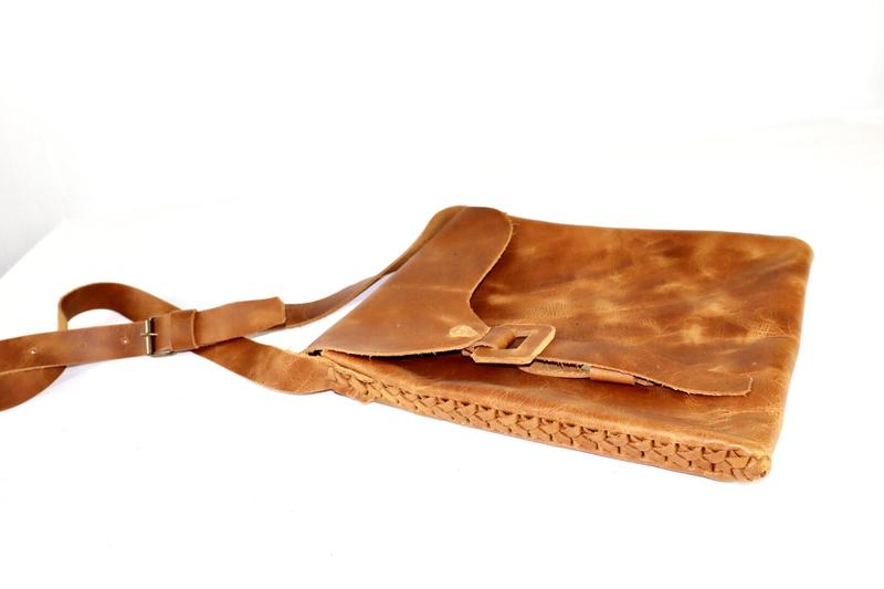 Tribal SOFT Leather Satchel - (Large)