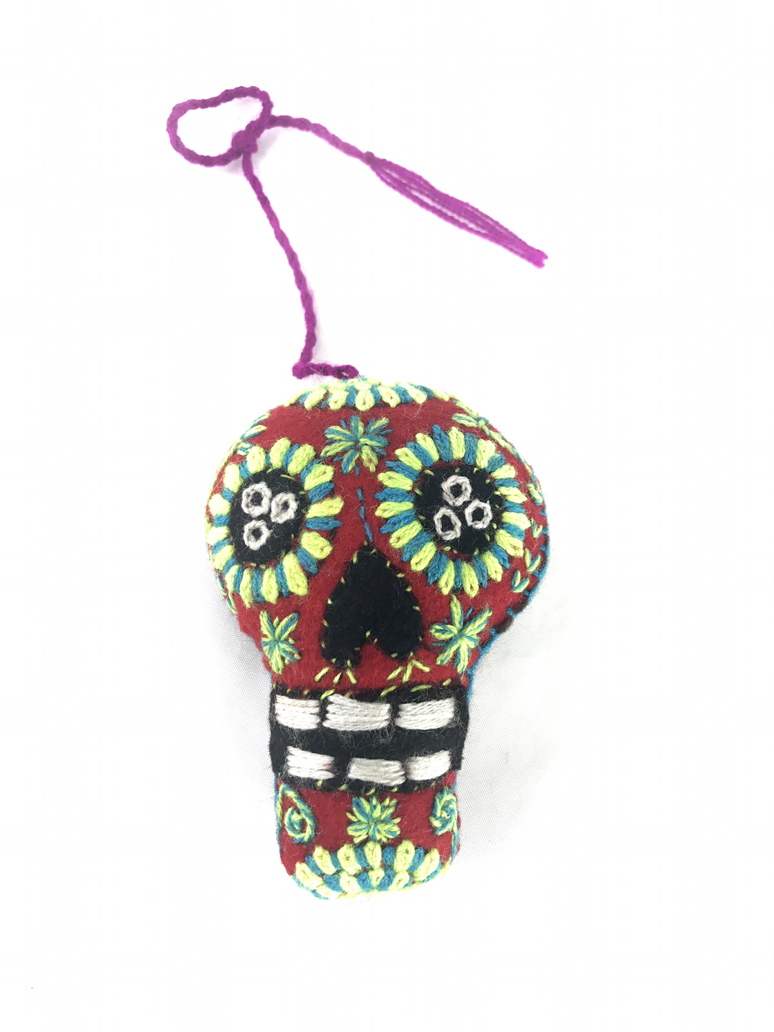 Day of the Dead Embroidered Tassel Pom Pom - No. 2