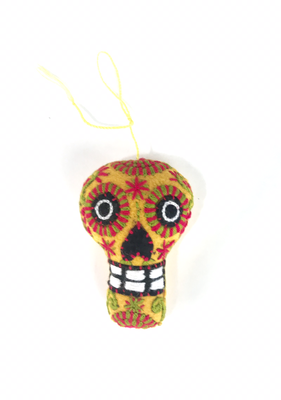 Day of the Dead Embroidered Tassel Pom Pom - No. 7