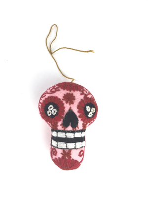 Day of the Dead Embroidered Tassel Pom Pom - No. 8