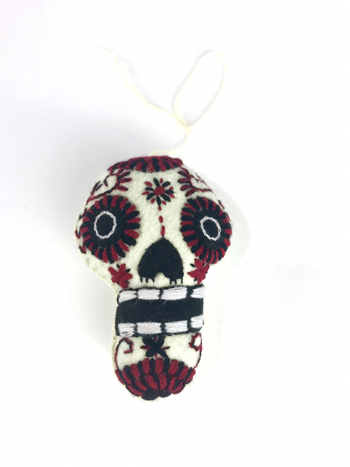 Day of the Dead Embroidered Tassel Pom Pom - No. 11