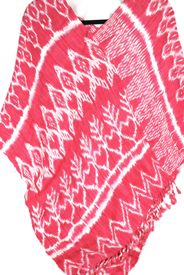 Natural Dye Poncho - Pink  (SMALL)