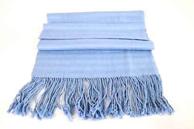 Handwoven Cotton Shawl - Baby Blue