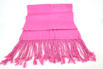 Handwoven Cotton Shawl - Pink