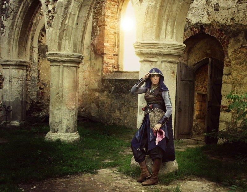 We Work In The Dark - Maria Assassins Creed Movie Print