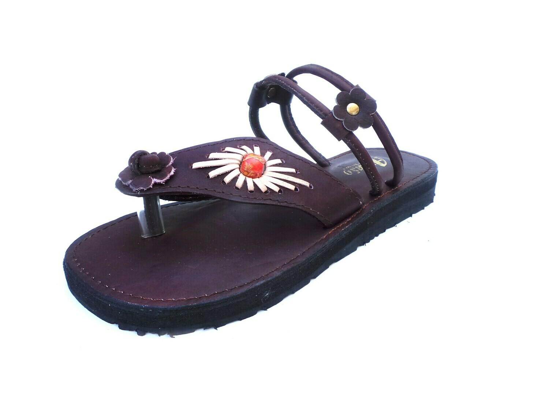 Sandale en cuir TEXAS marron