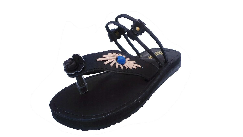 Sandale en cuir TEXAS noir